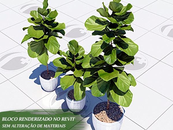 plantas com vasos renderizados revit 2019