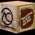 biblioteca completa blocos renderizados e texturas 3ds max