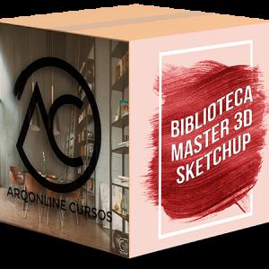 Box Oficial Biblioteca Master 3D Sketchup