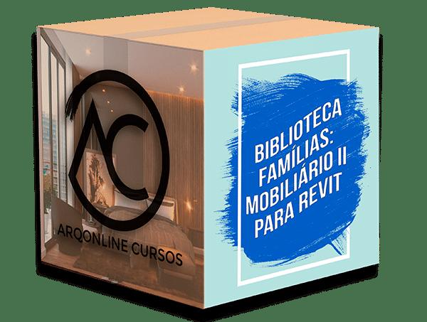 Box Biblioteca itens de sala para Revit