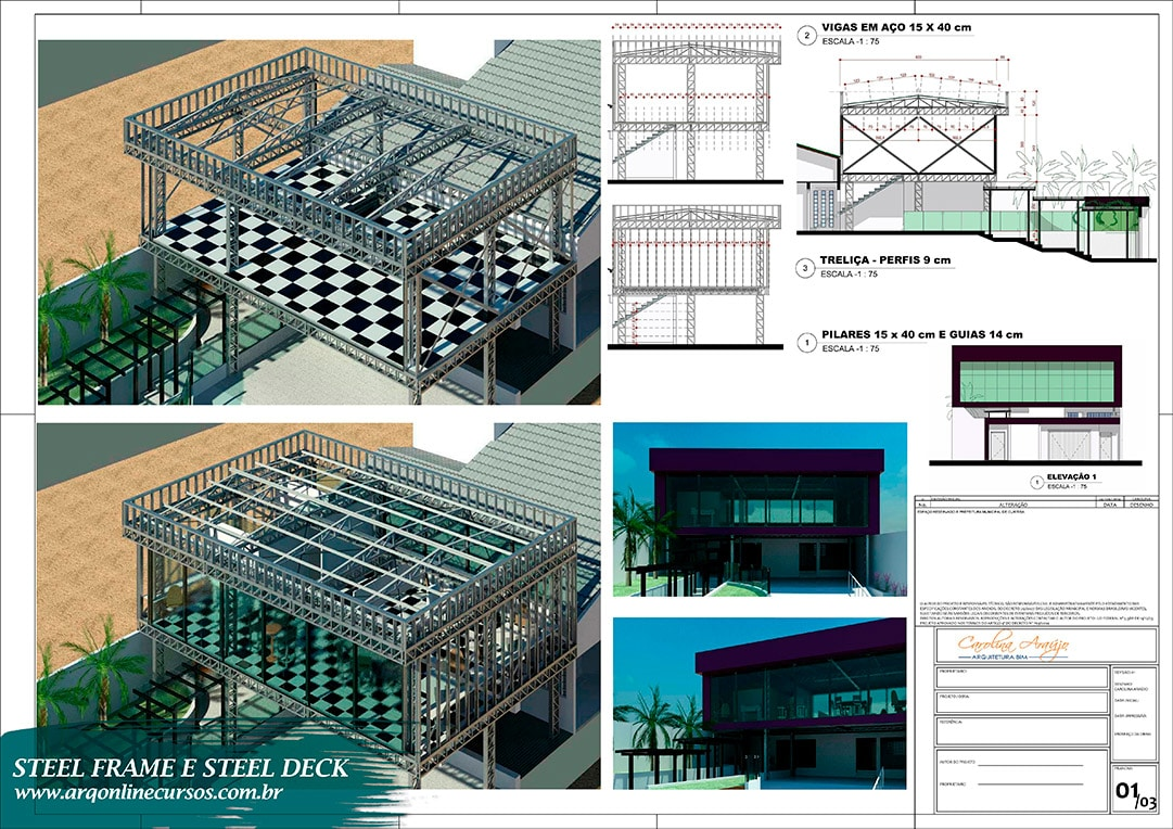Curso Revit Steel Frame e Steel Deck prancha