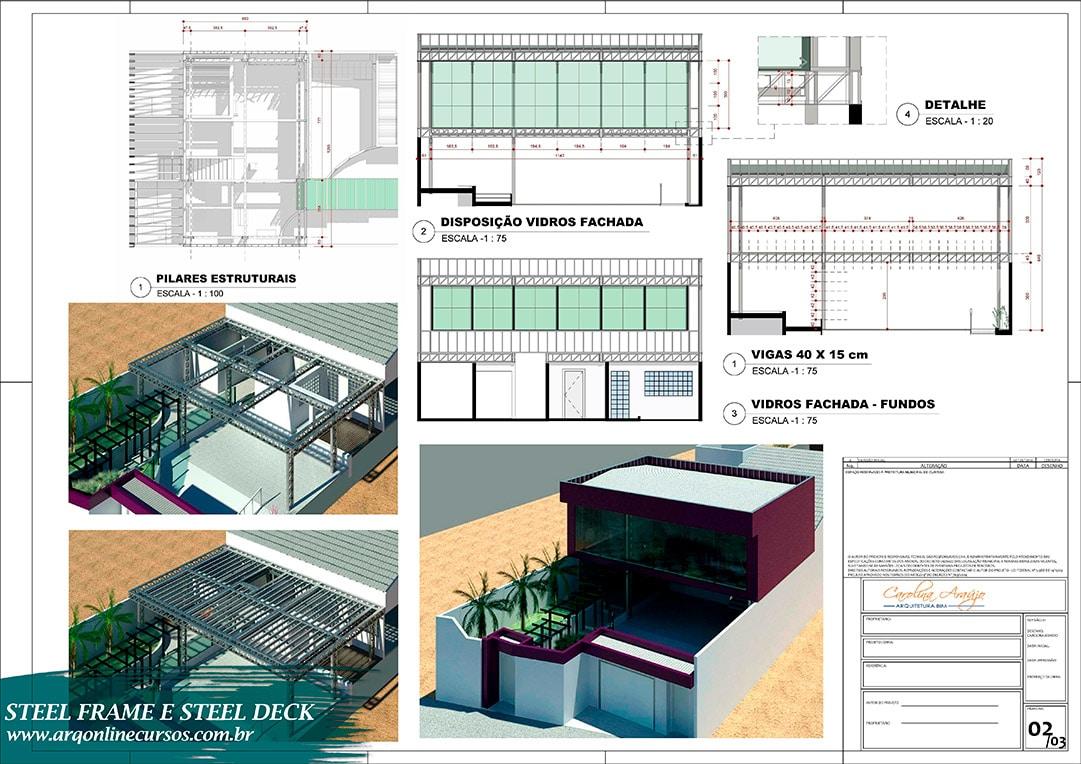 Curso Revit Steel Frame e Steel Deck fachada