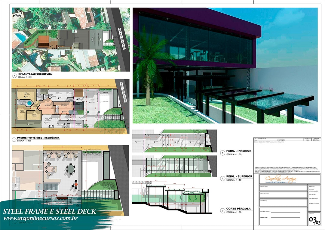 Curso Revit Steel Frame e Steel Deck configurações