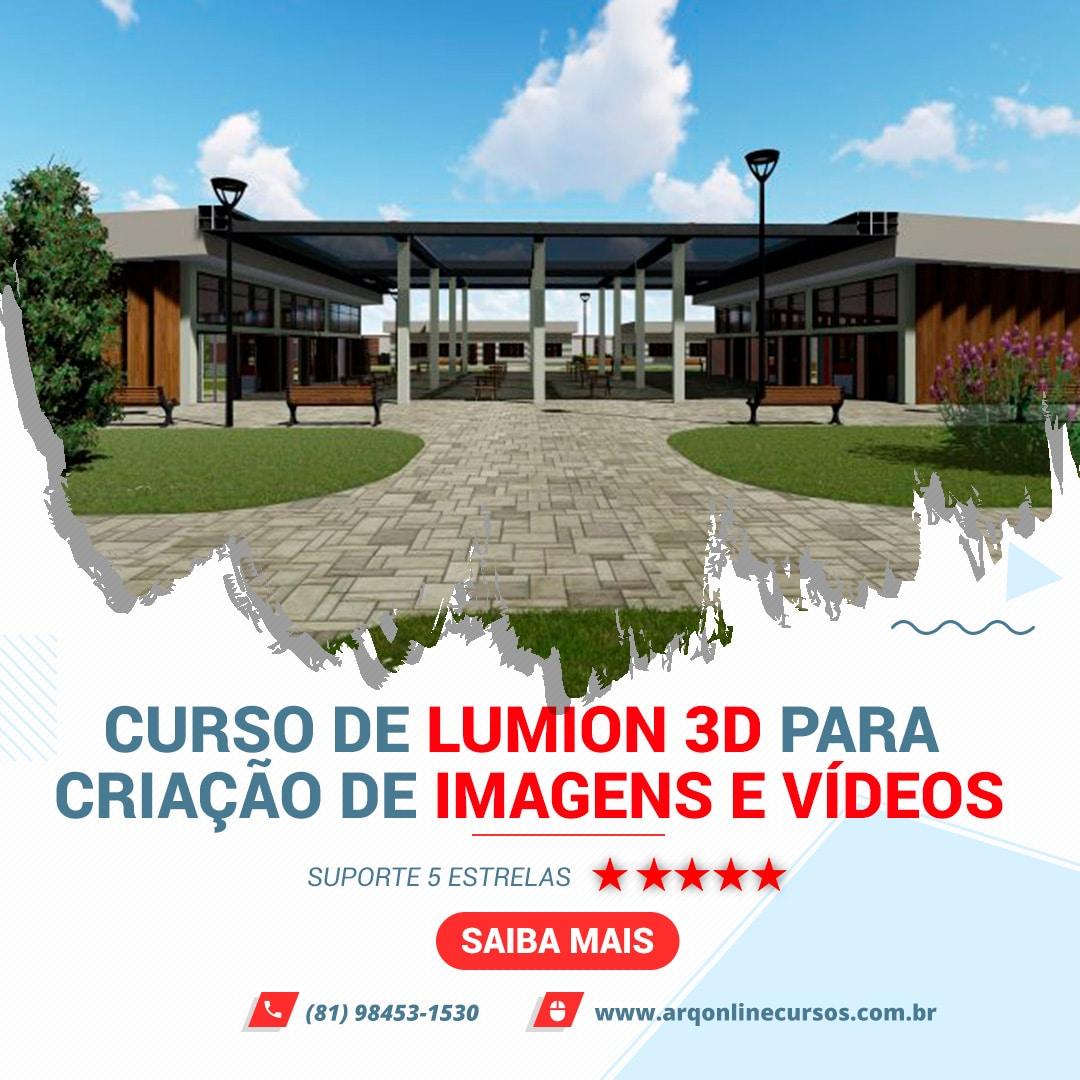 Curso de Lumion 3D banner oficial