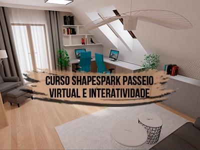 Curso Shapespark Passeio Virtual e Interatividade