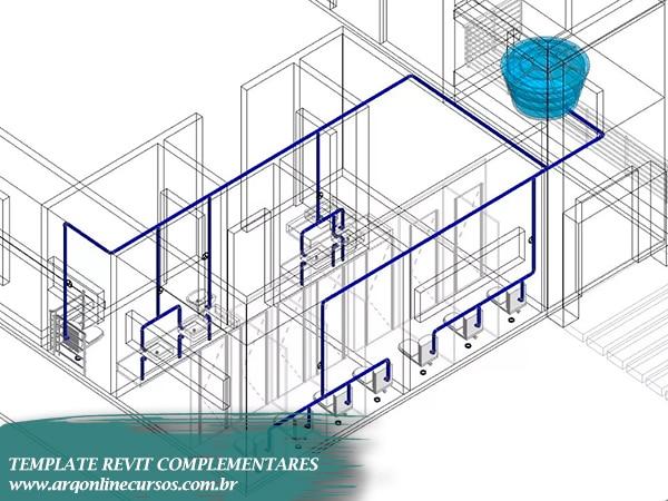 template revit complementares famílias elétrica