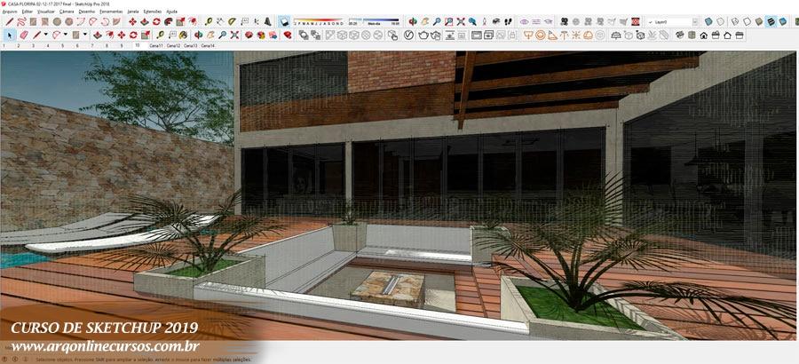 aula sketchup externa configuração