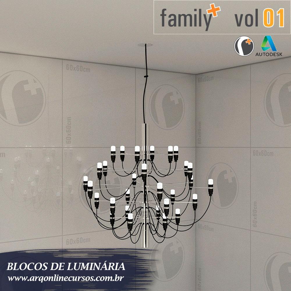 biblioteca de blocos de luminária para revit 16 vertices