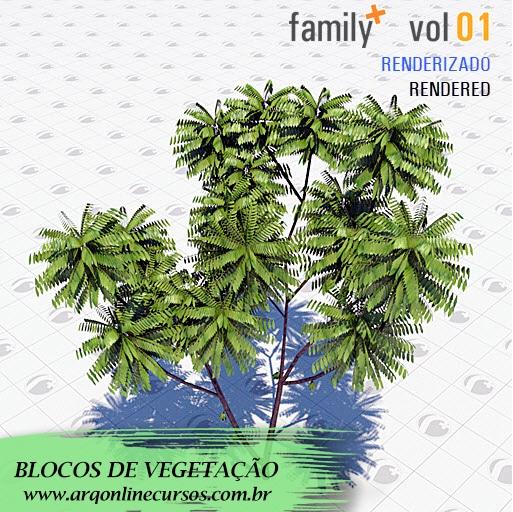biblioteca de famílias de vegetação para revit arqonline cursos