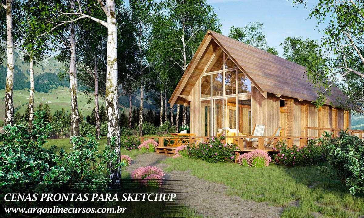 biblioteca de projetos prontos para sketchup casa ao ar livre