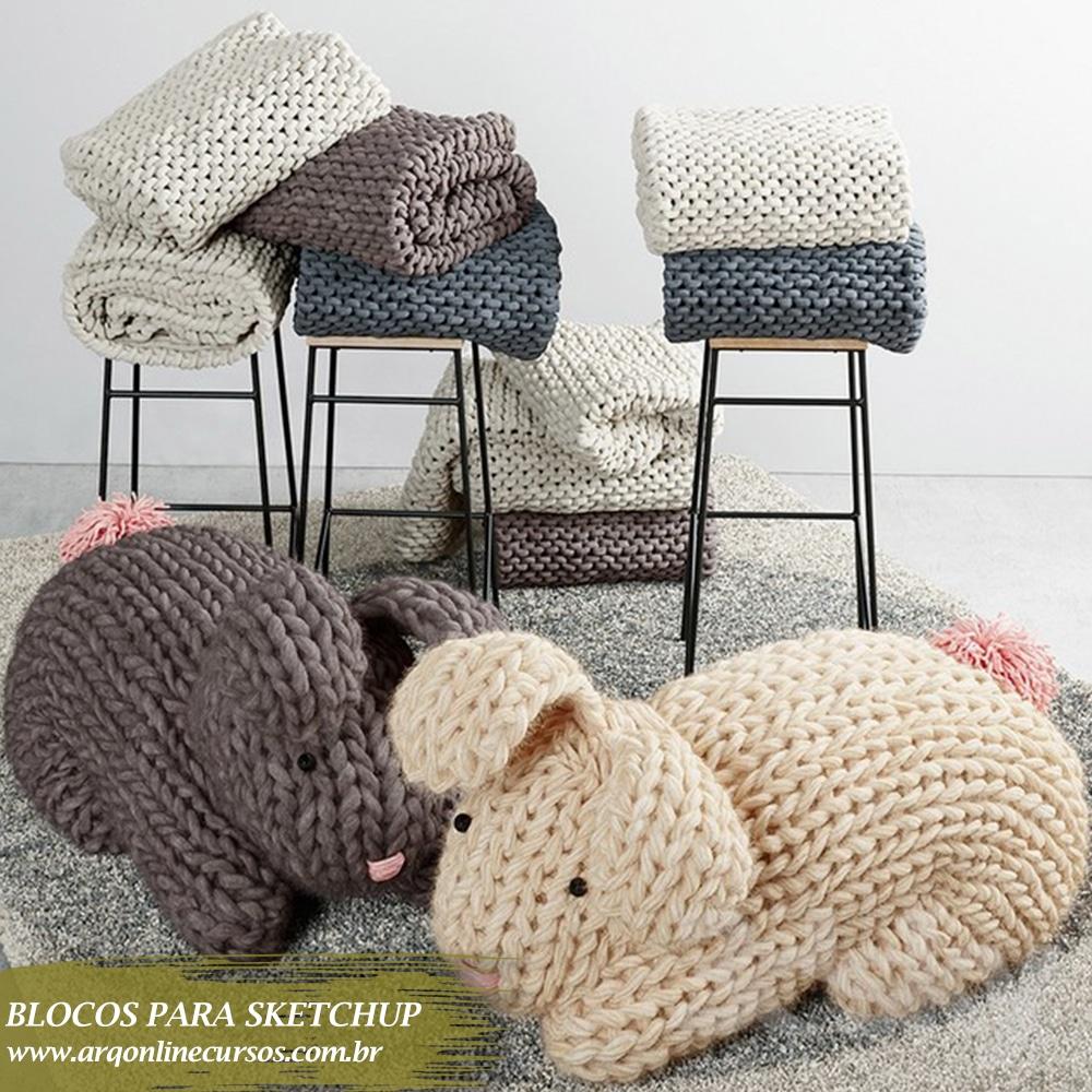 biblioteca para sketchup coelhos decorativos