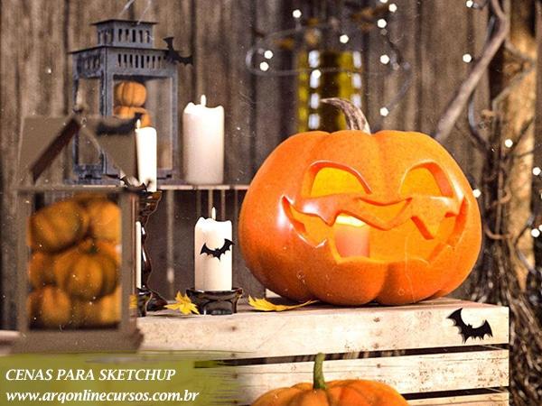 biblioteca sketchup download Halloween