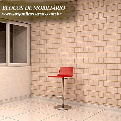 biblioteca de famílias de mobiliário para revit render cadeira vermelha
