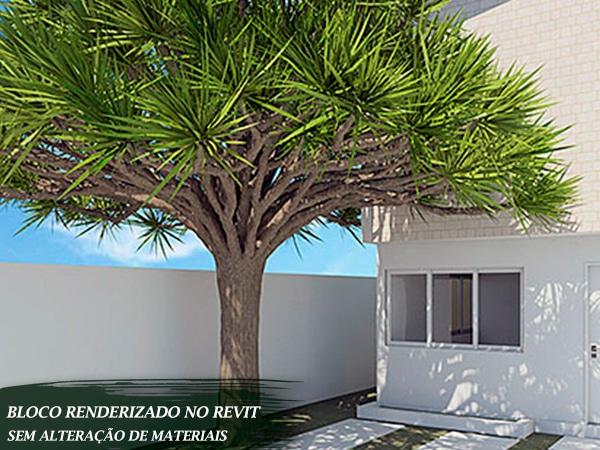 árvore decoração externa revit