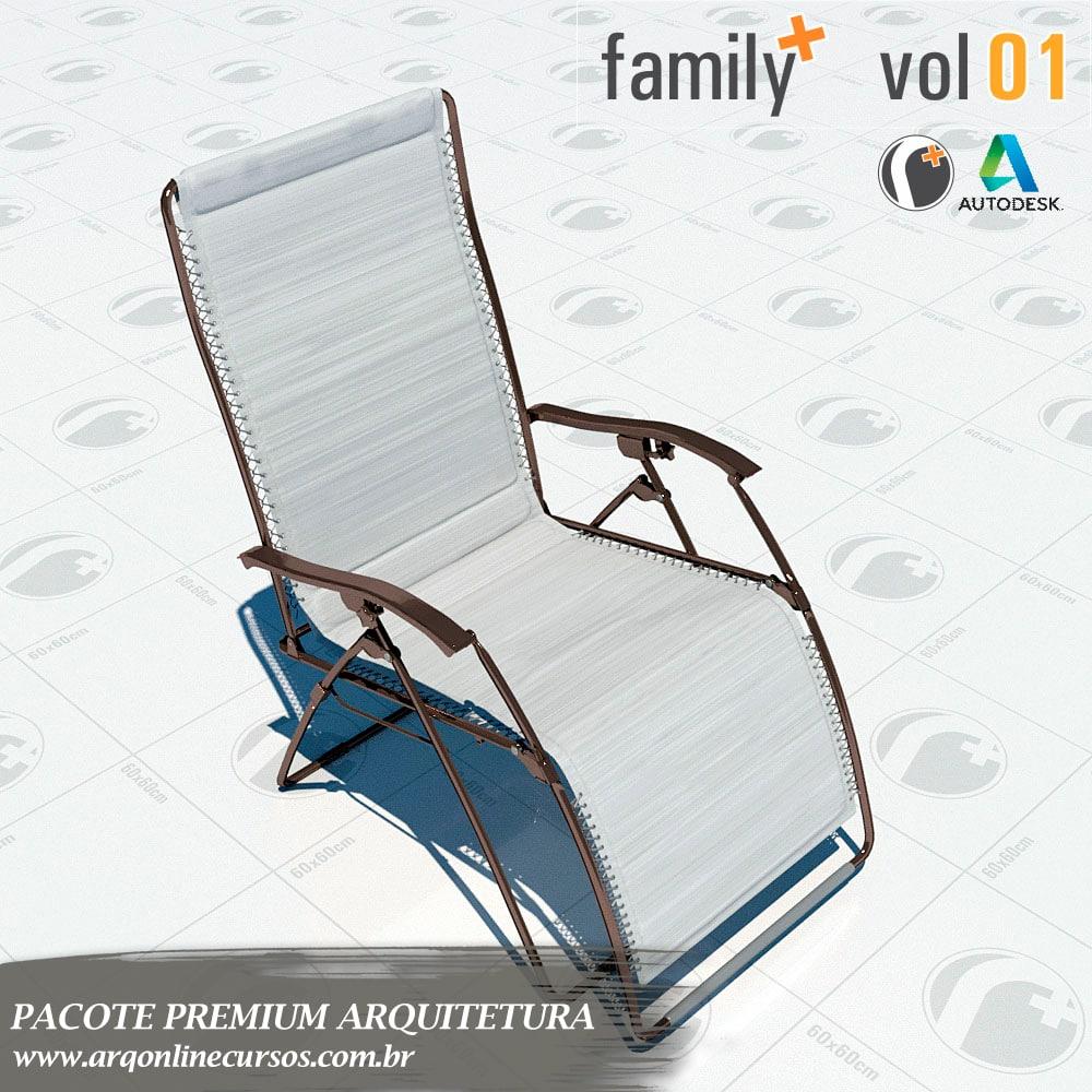 bloco de cadeira de praia para revit
