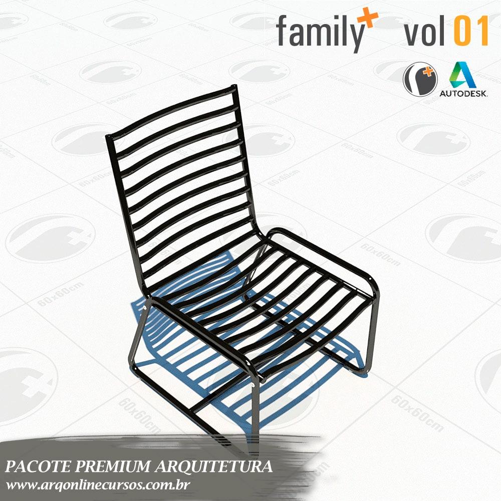 bloco de área externa cadeira revit