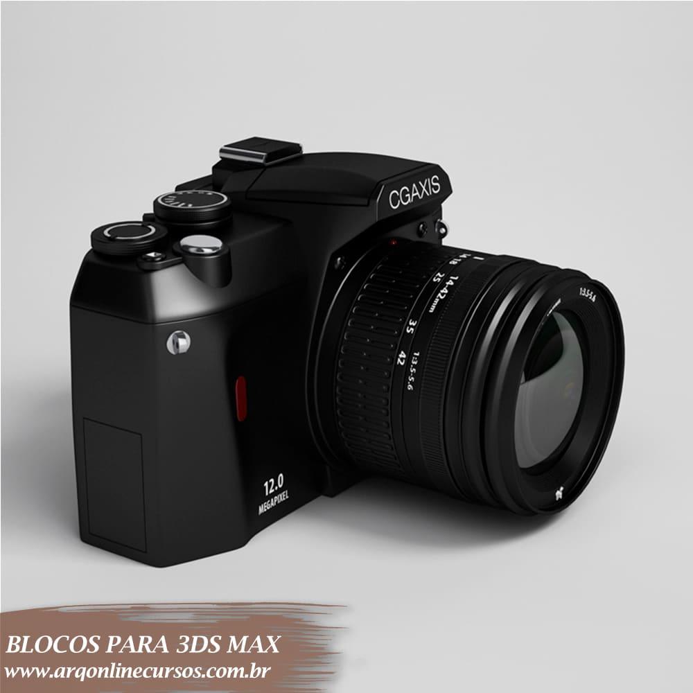 bloco câmera tirar foto 3ds max
