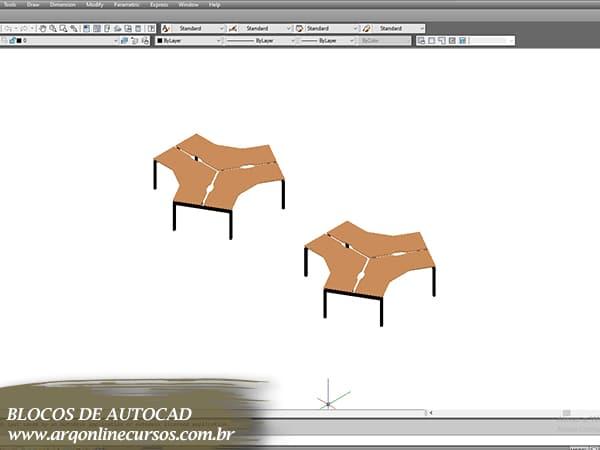 blocos de autocad mesa madeira