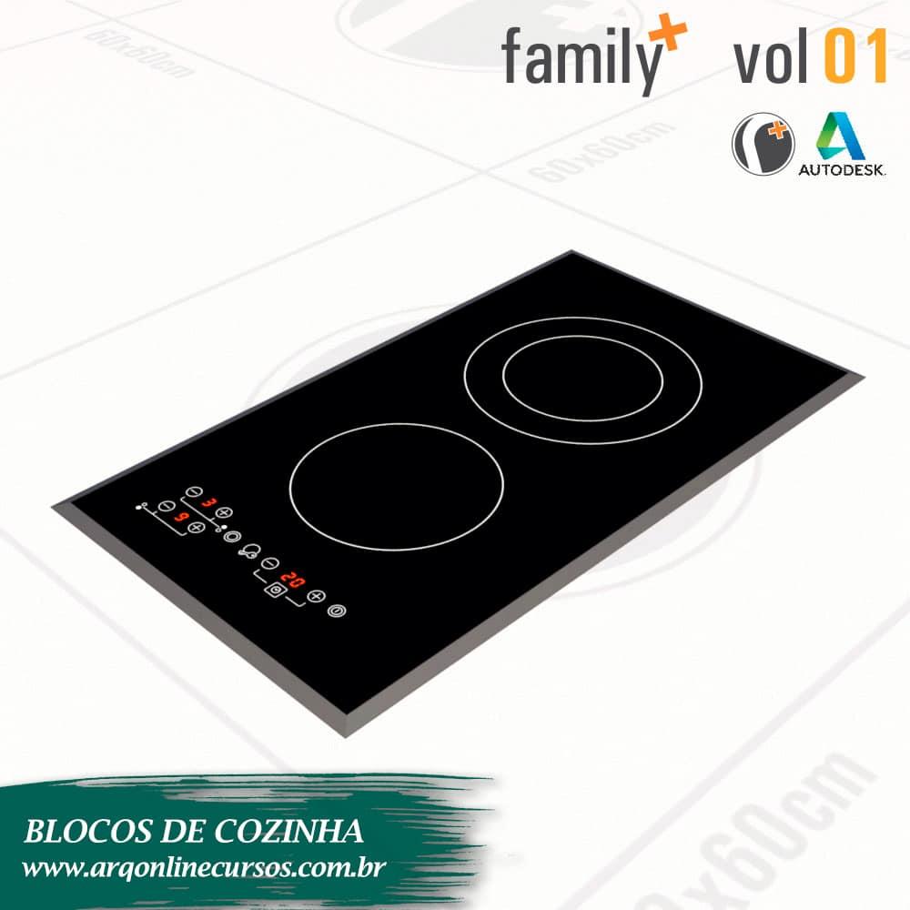 blocos de cozinha para revit fogão 2 bocas