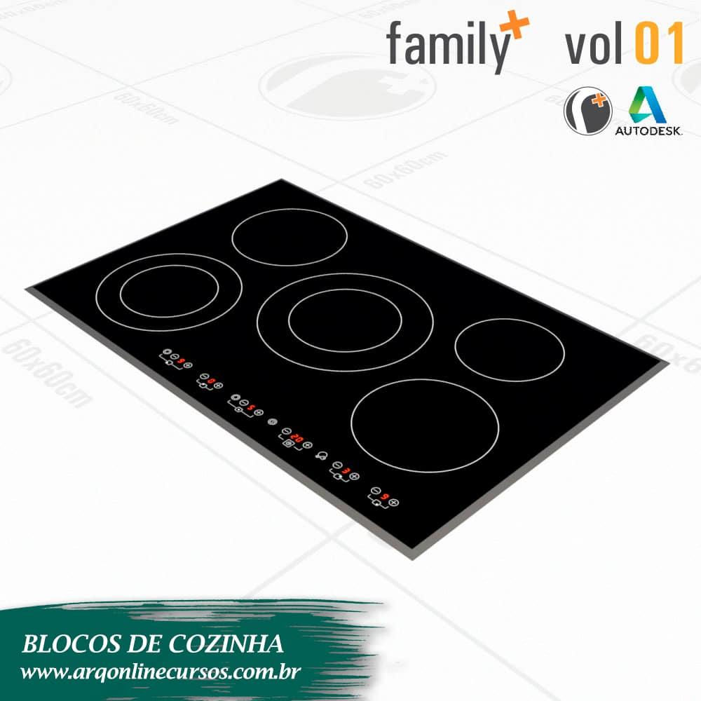 blocos de cozinha para revit cooktop render