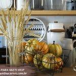 blocos acessórios de cozinha para sketchup
