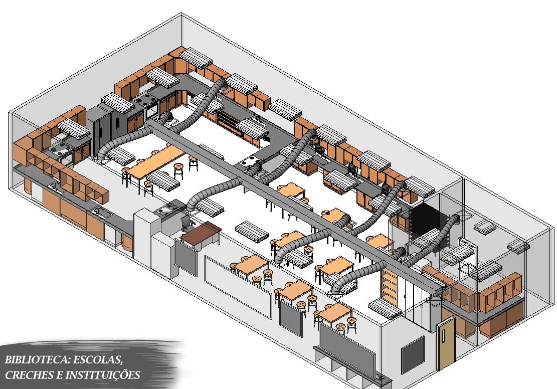 blocos de escola para revit projeto sala
