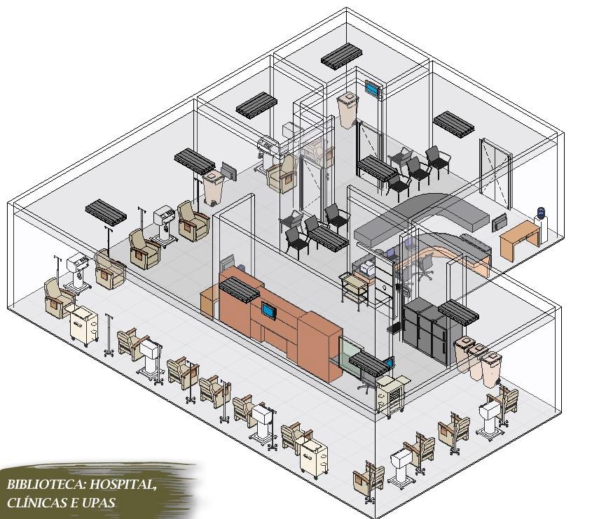 blocos de hospital para revit famílias parametrizadas
