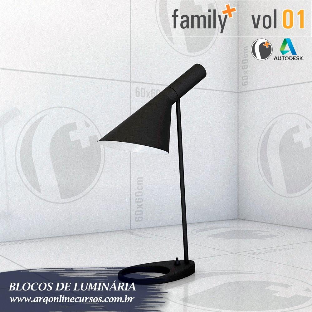 blocos de luminária visão descanso
