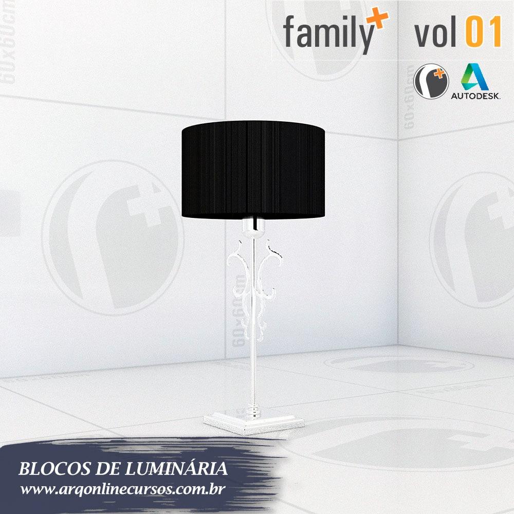 blocos de luminária para revit dupla