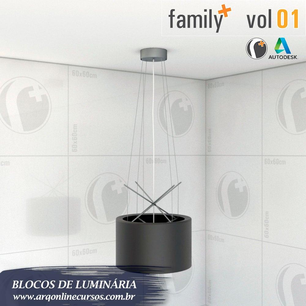 blocos de luminária render teto