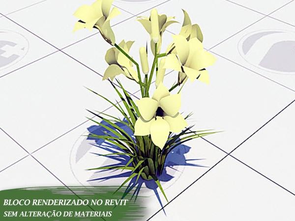 flores renderizadas nuvem autodesk