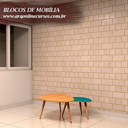 blocos de mobília bicolor