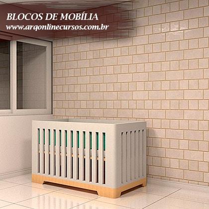 blocos de mobília berço