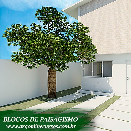 blocos de paisagismo para revit render árvore maior