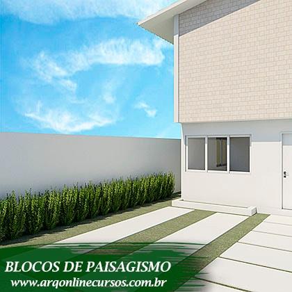 blocos de paisagismo plantas render maiores