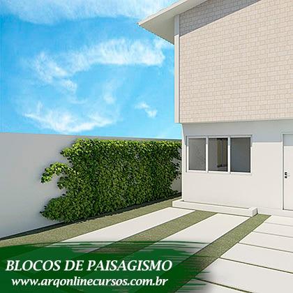 blocos de paisagismo planta verde