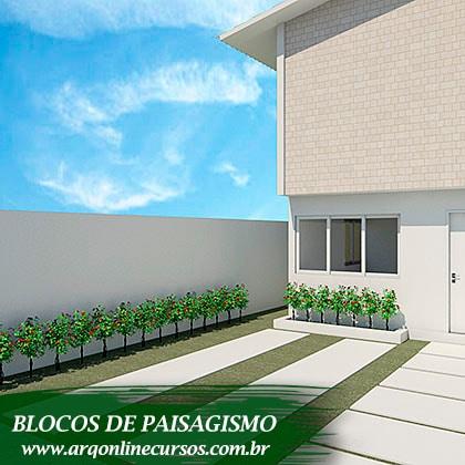 blocos de paisagismo mini plantas