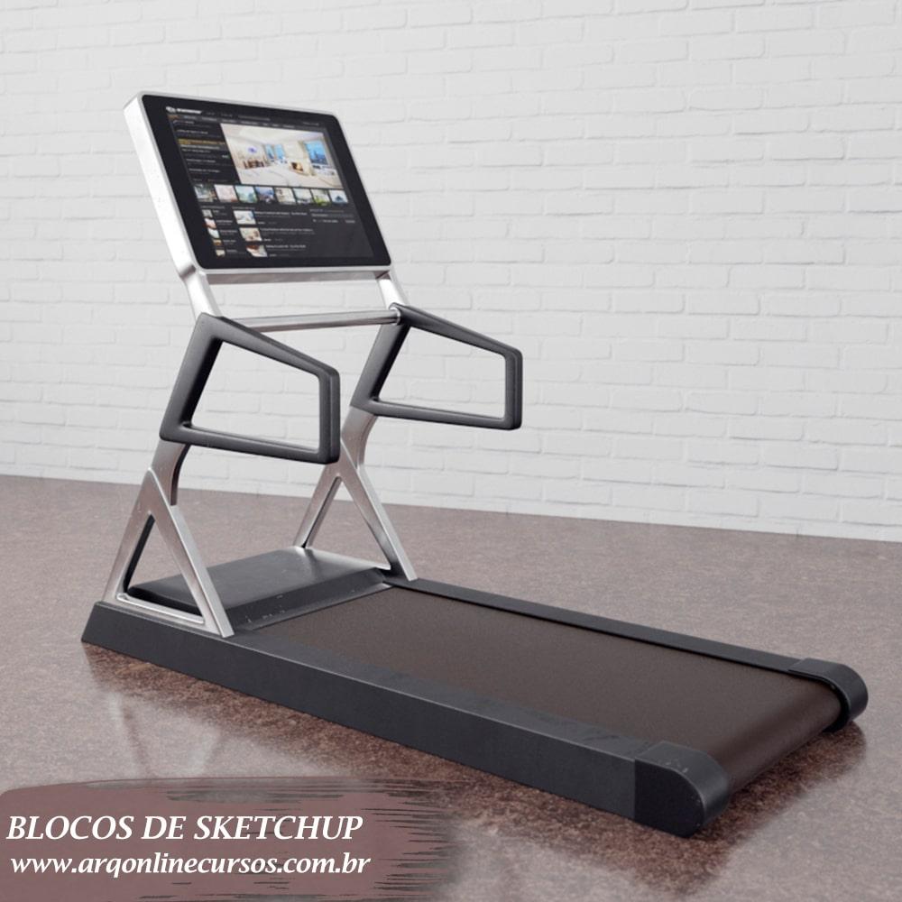 blocos de sketchup aparelho para correr