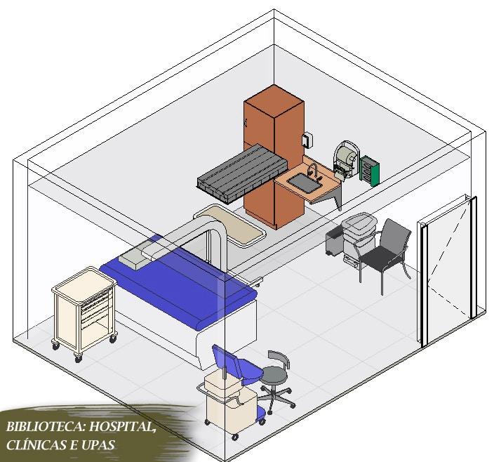 blocos de upas para revit centro médico