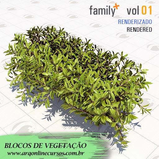 blocos de vegetação pra revit flores maiores