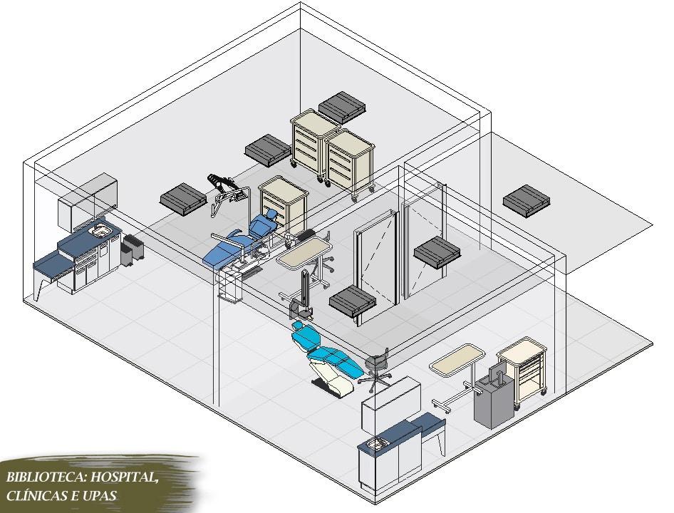 blocos hospitalares para revit visão realista