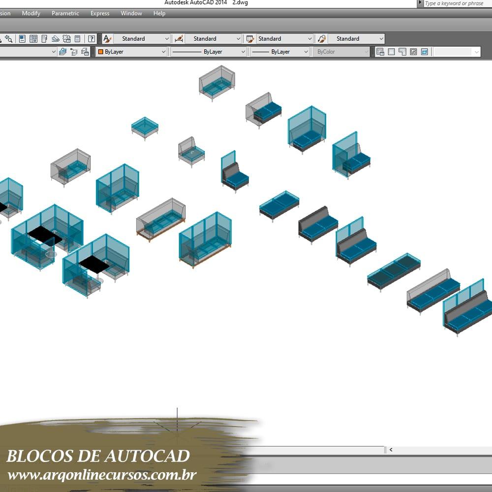 blocos para autocad mesas e cadeiras