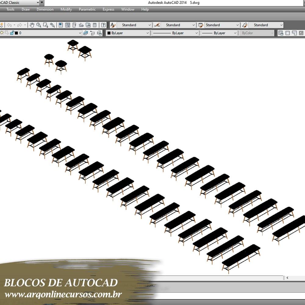 blocos para autocad blocos de cadeira