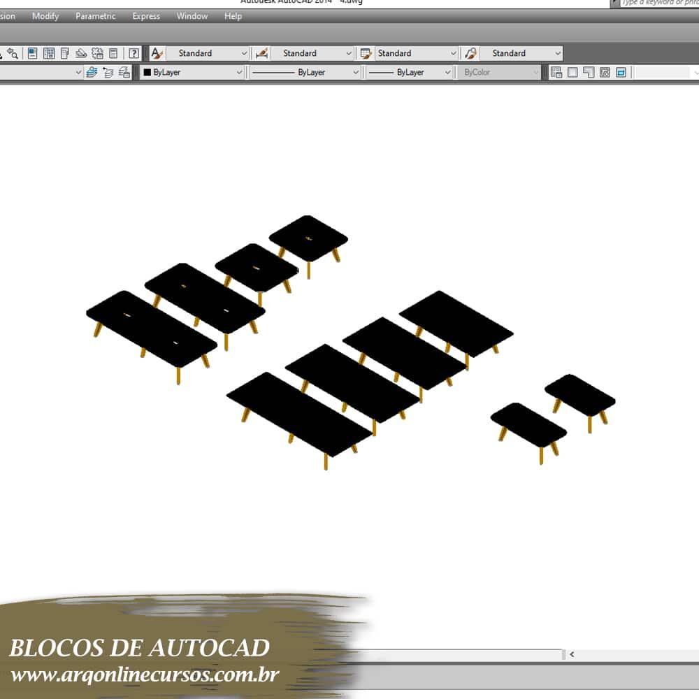 blocos para autocad mesas