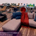 3d blocos mobiliários lumion