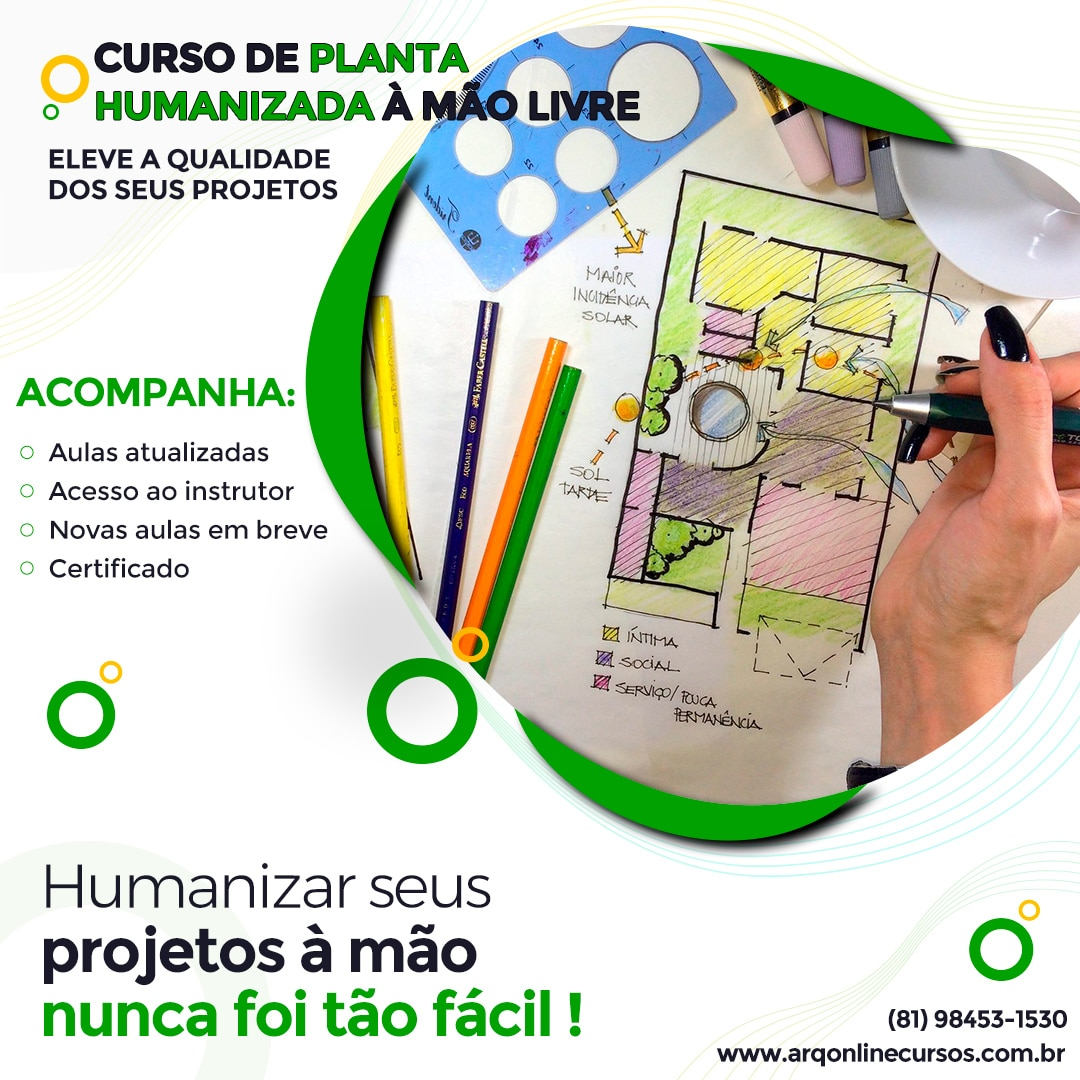 curso de planta humanizada a mão livre banner