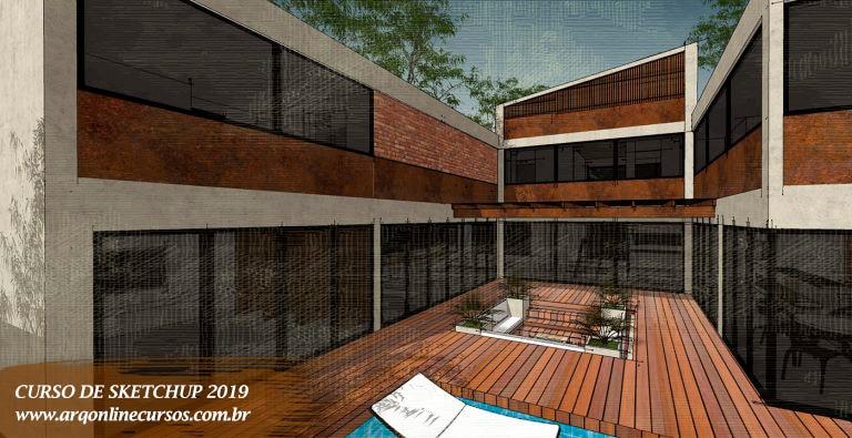 curso de sketchup 2019 visão frontal