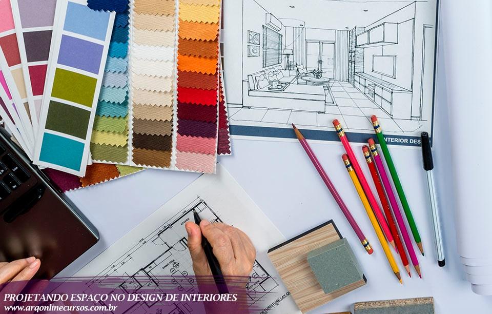 curso projetando espaço no design conjunto de cores