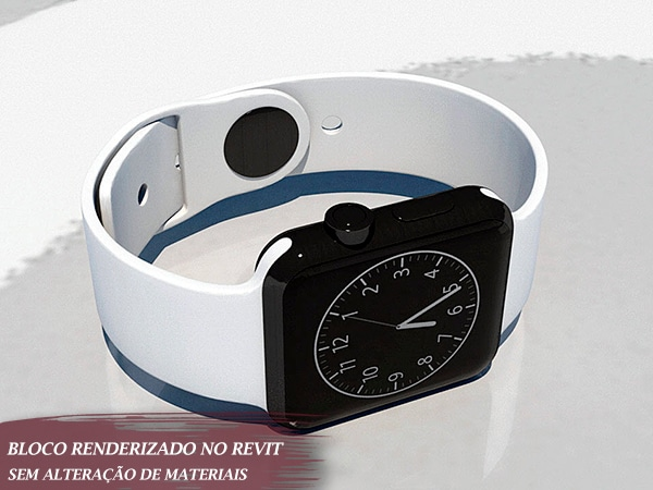 bloco de relógio de mão para revit