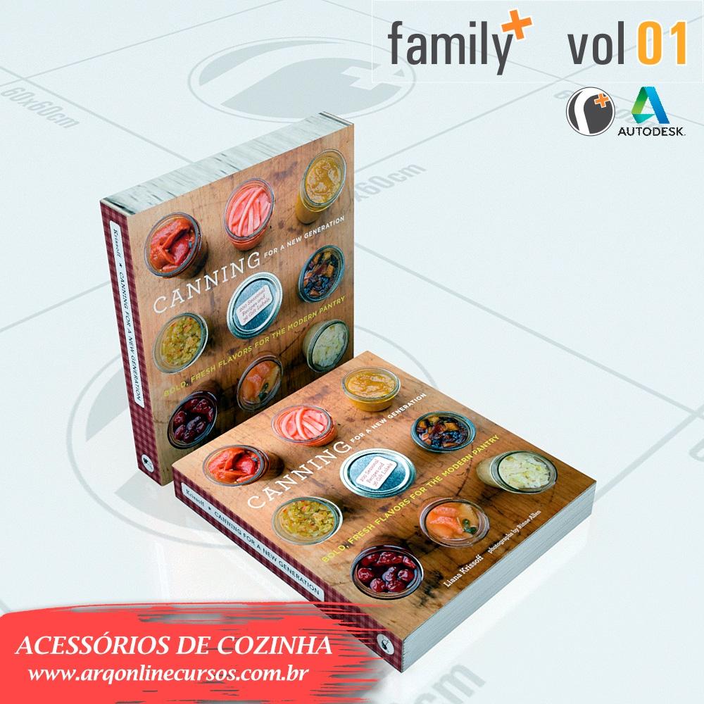famílias de acessórios de cozinha para revit livro de receitas